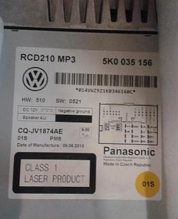 Код магнитолы RCD-210-210.jpg